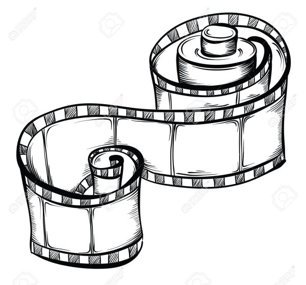 Film Reel Drawing at GetDrawings.com | Free for personal ...