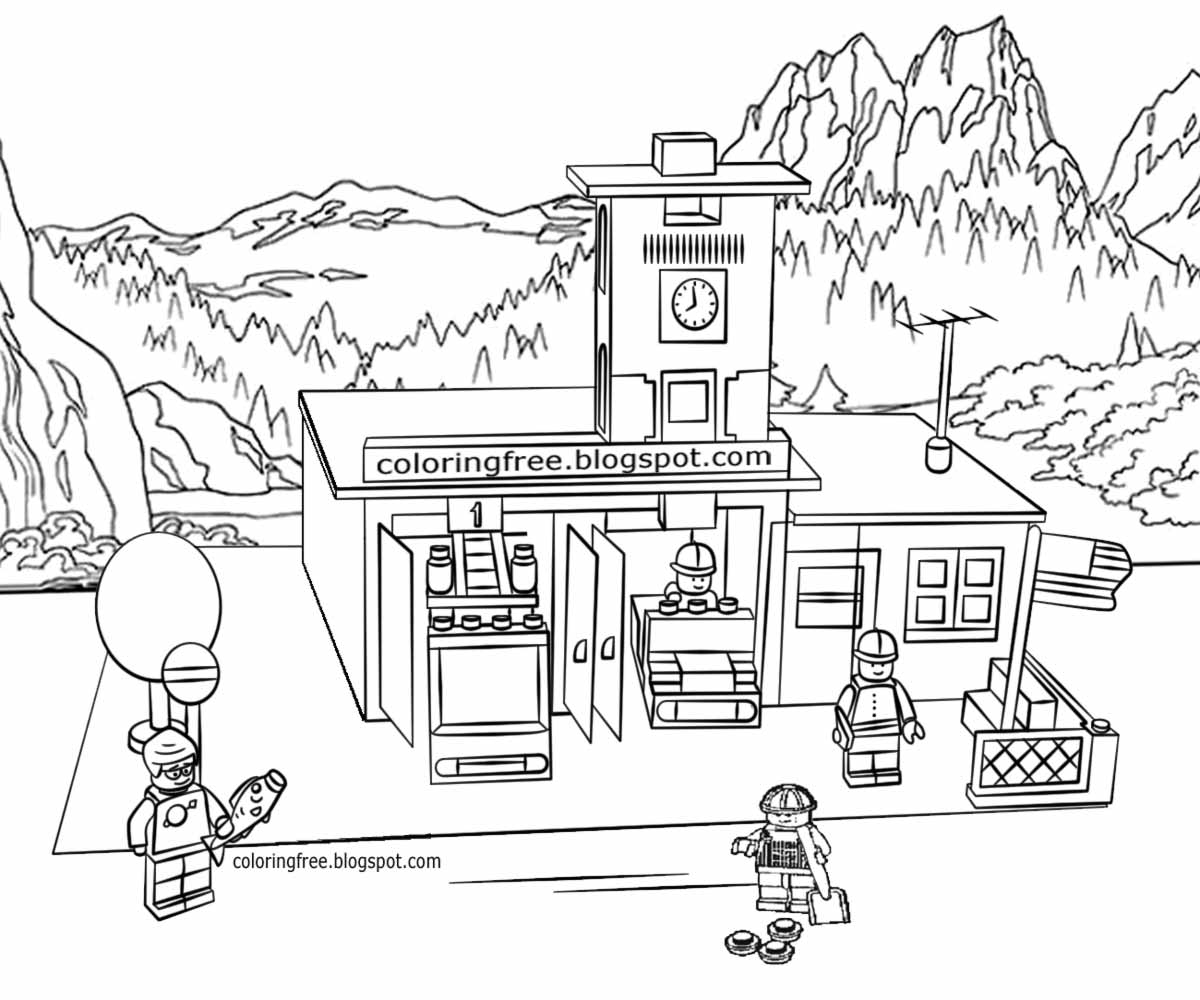 Fire Station Drawing At Getdrawings