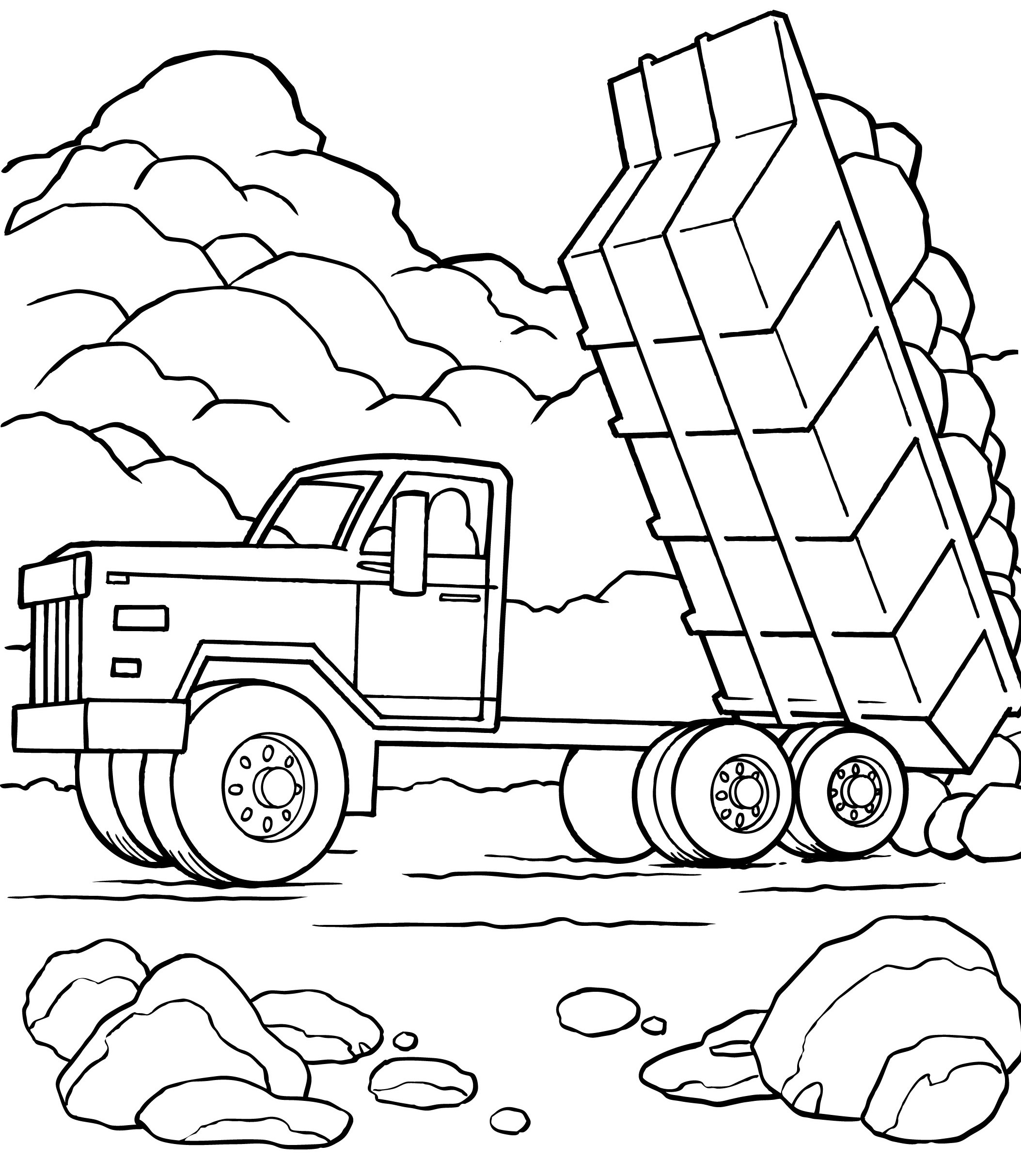 Fire Truck Line Drawing At Getdrawings