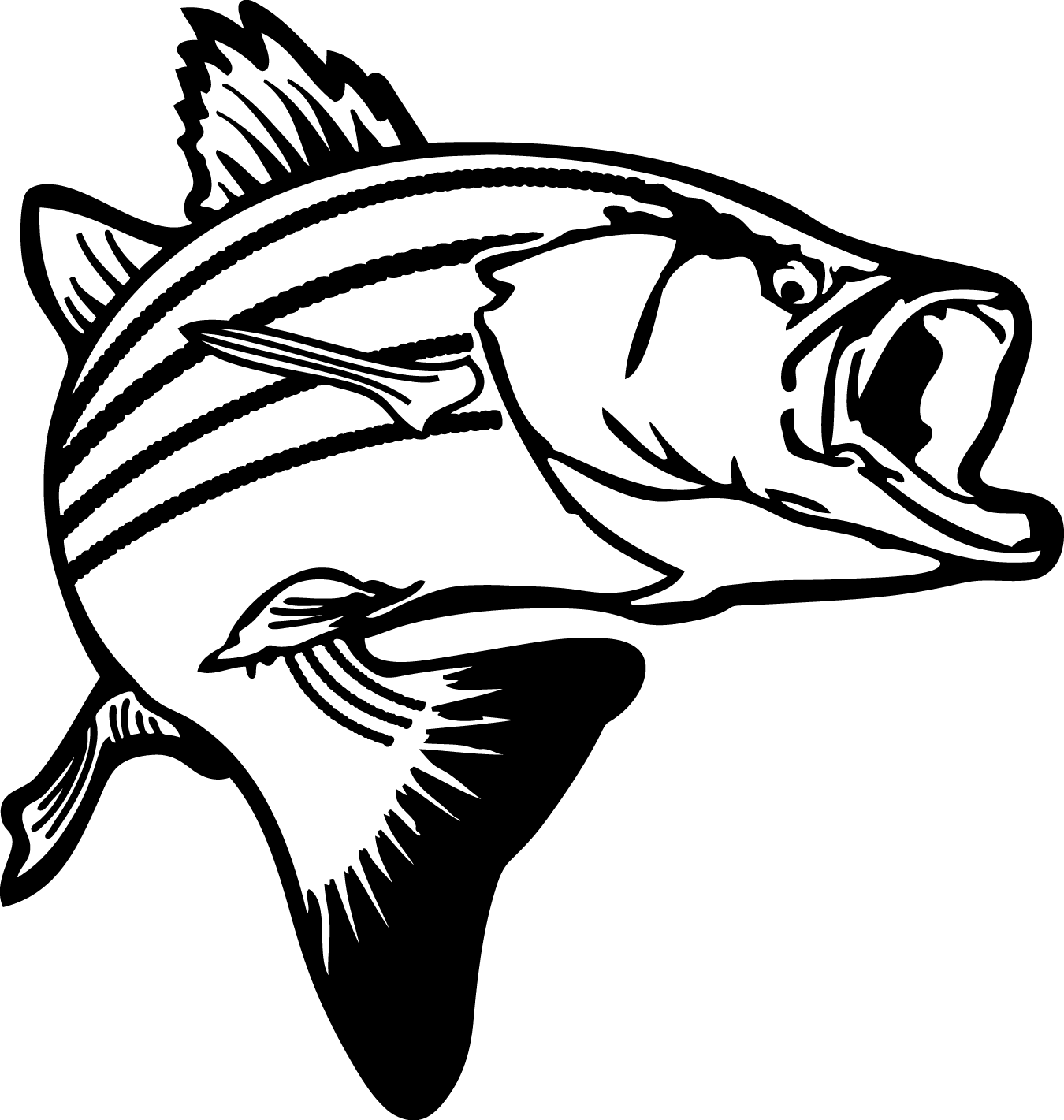Fish Black And White Drawing At Getdrawings