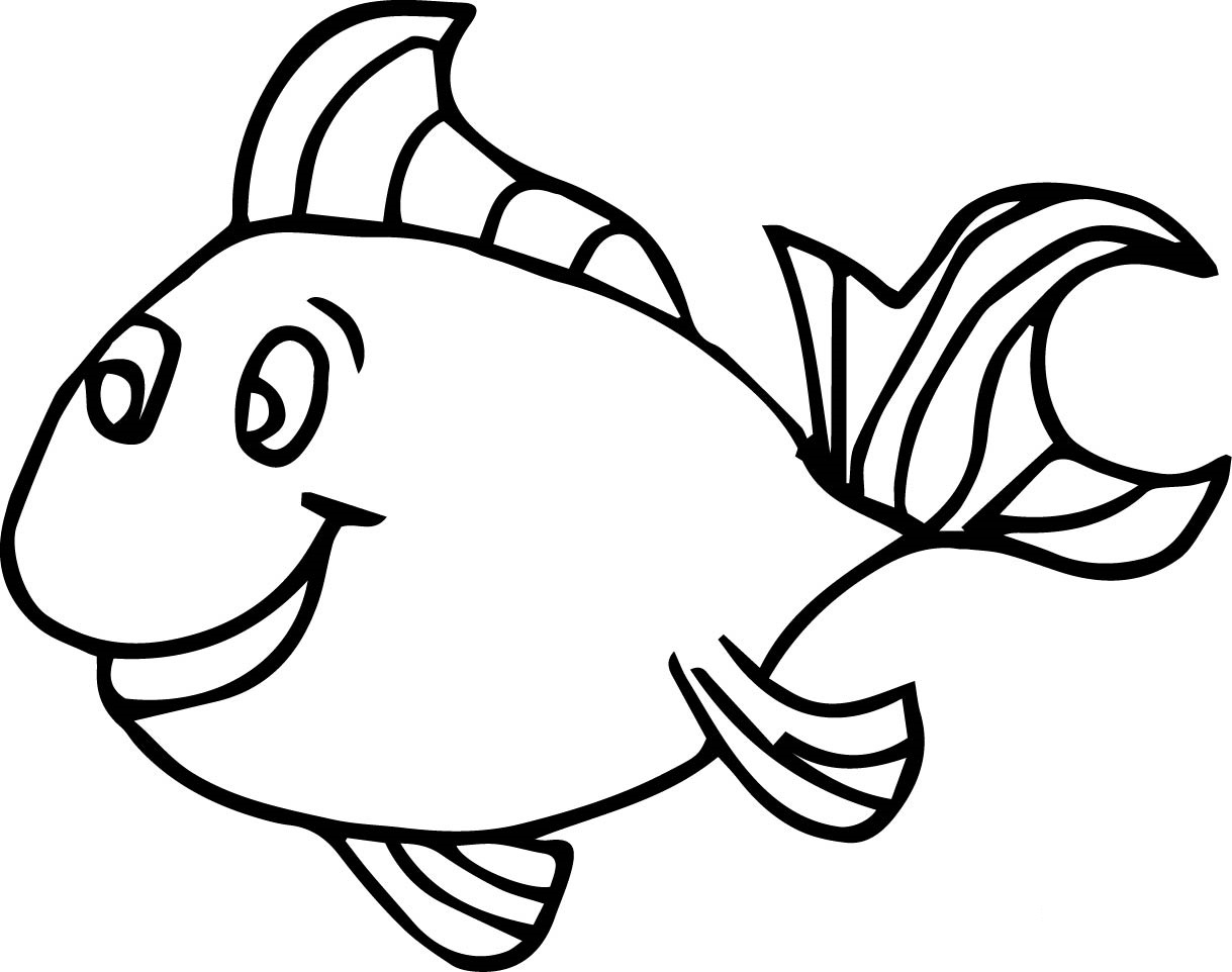 Fish Drawing For Colouring At Getdrawings