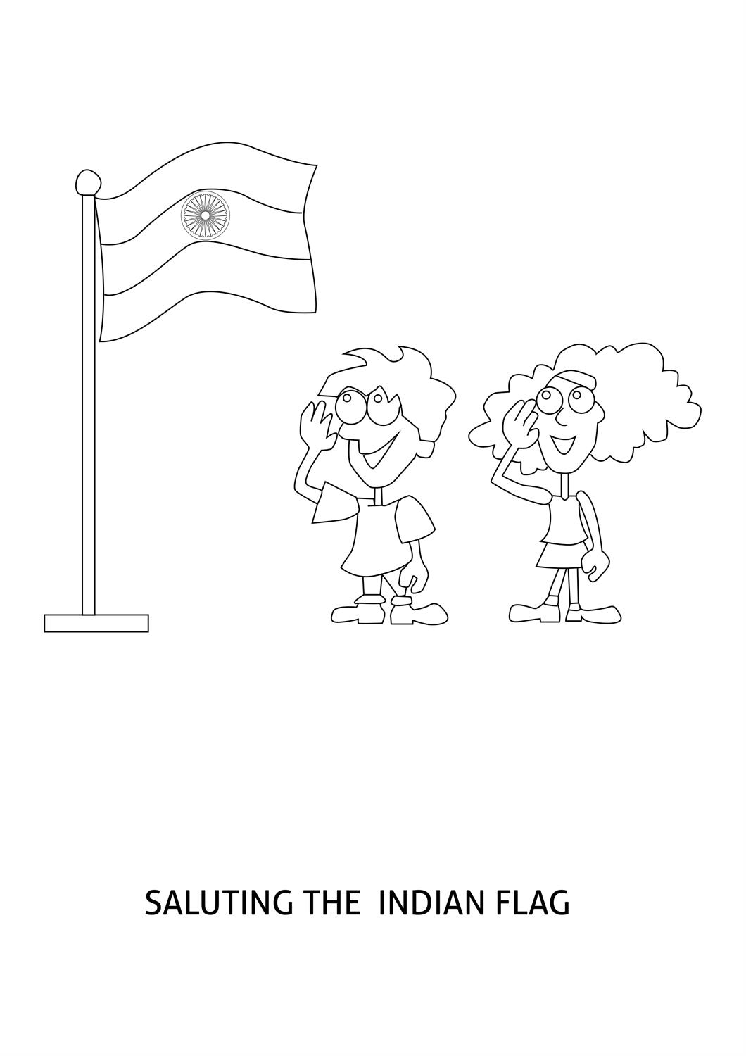 Flag Drawing At Getdrawings