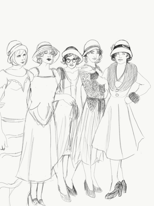 Flapper Girl Drawing at GetDrawings | Free download