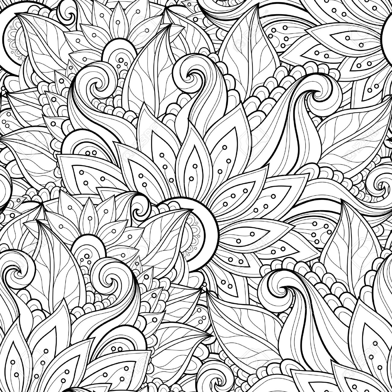 Floral Pattern Drawing At Free For