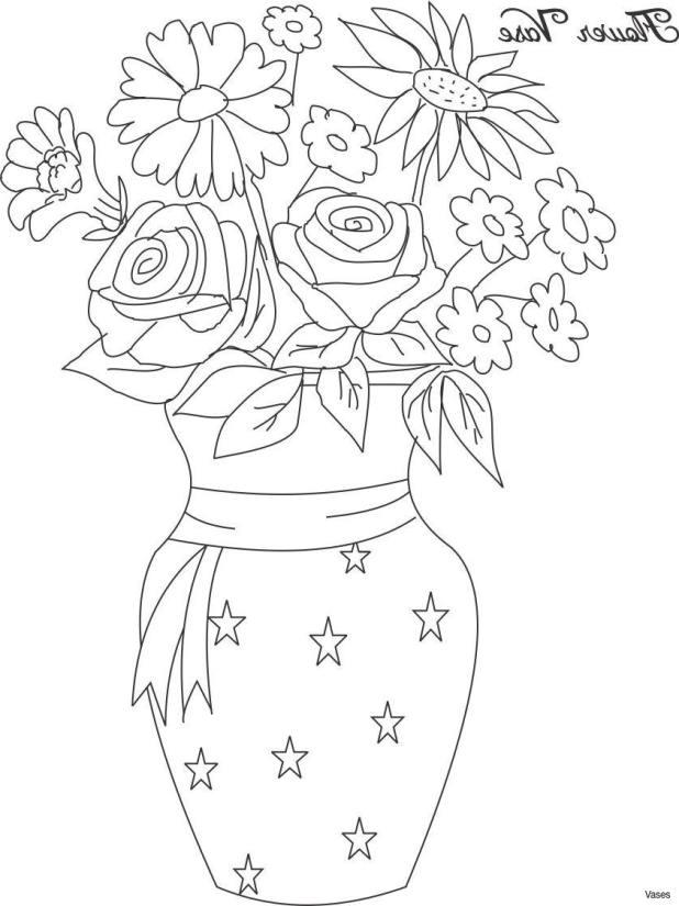 Drawing Image Of Flower Vase Wallsmiga