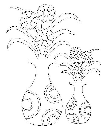 Pictures Of Flower Vase To Draw Bedwalls