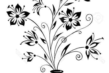 Flower Vase Clipart Black And White Best Wild Flowers Wild Flowers