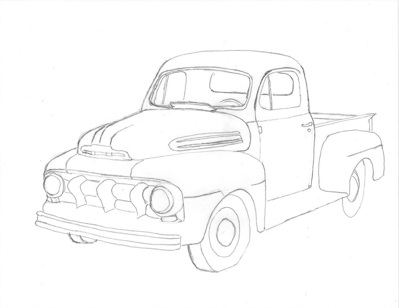 Ford Truck Drawing At Getdrawings