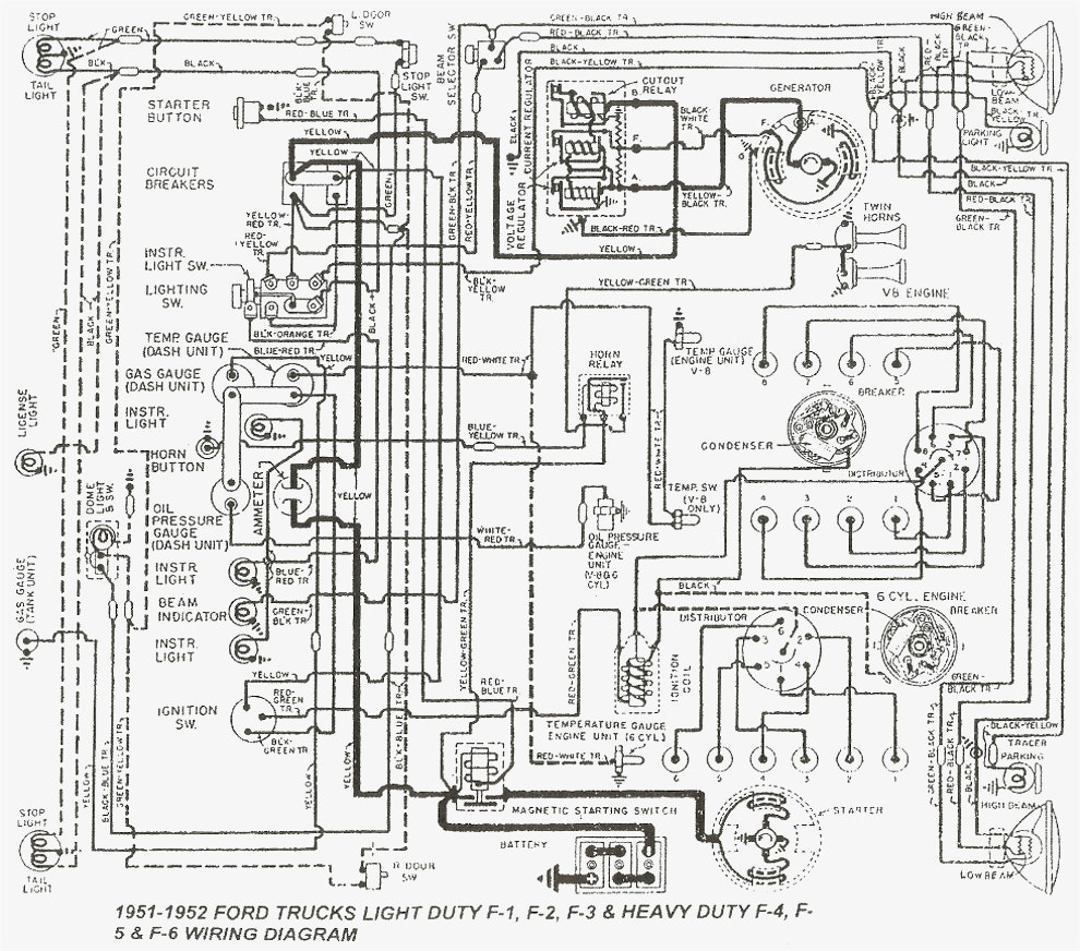 Wiring diagram 1951 f1 wire center u2022 rh masinisa co 1952 ford truck wiring diagram ford