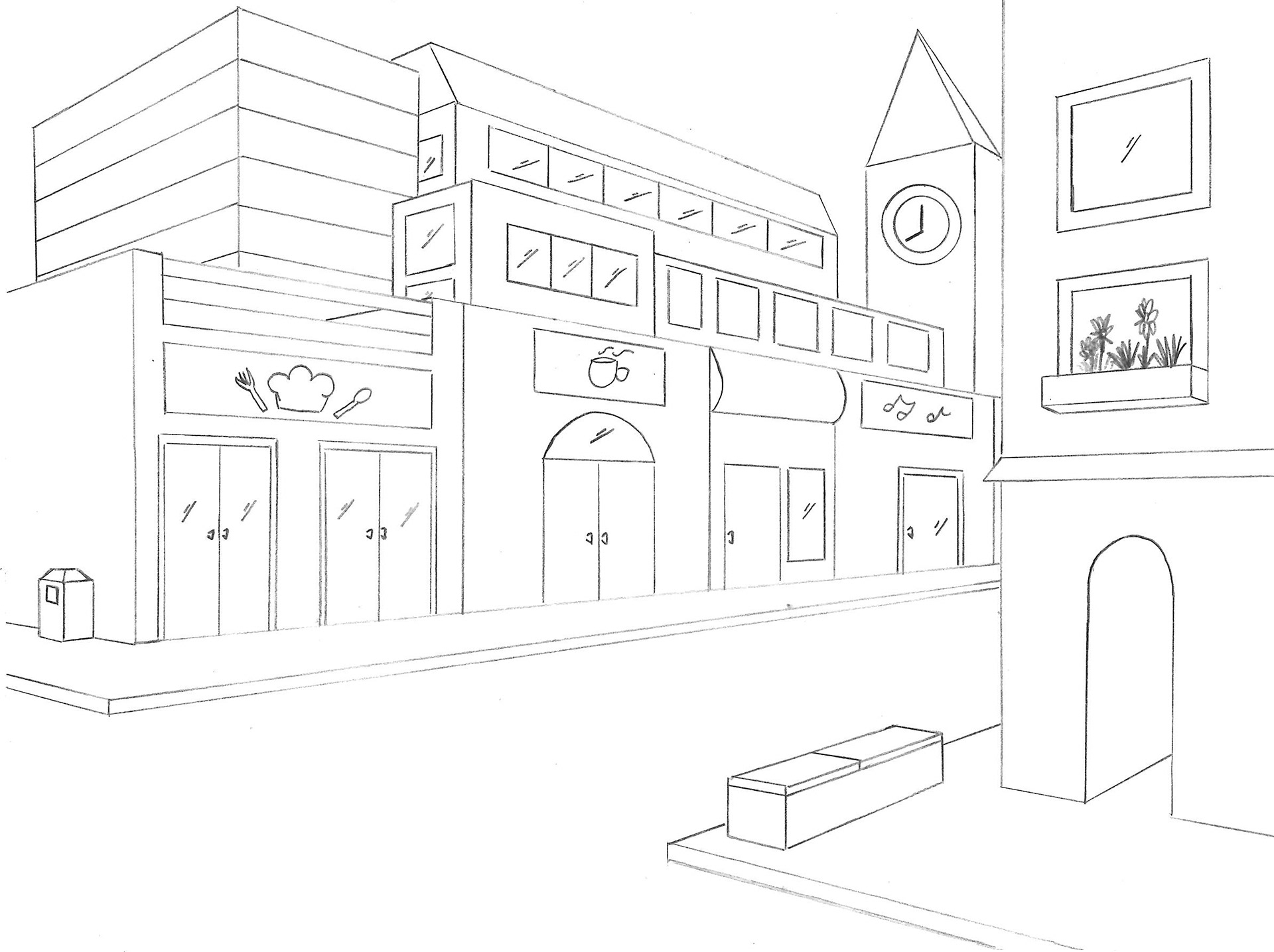 Foreground Middleground Background Drawing At Getdrawings