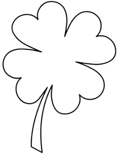 four leaf clover drawing at getdrawings  free download