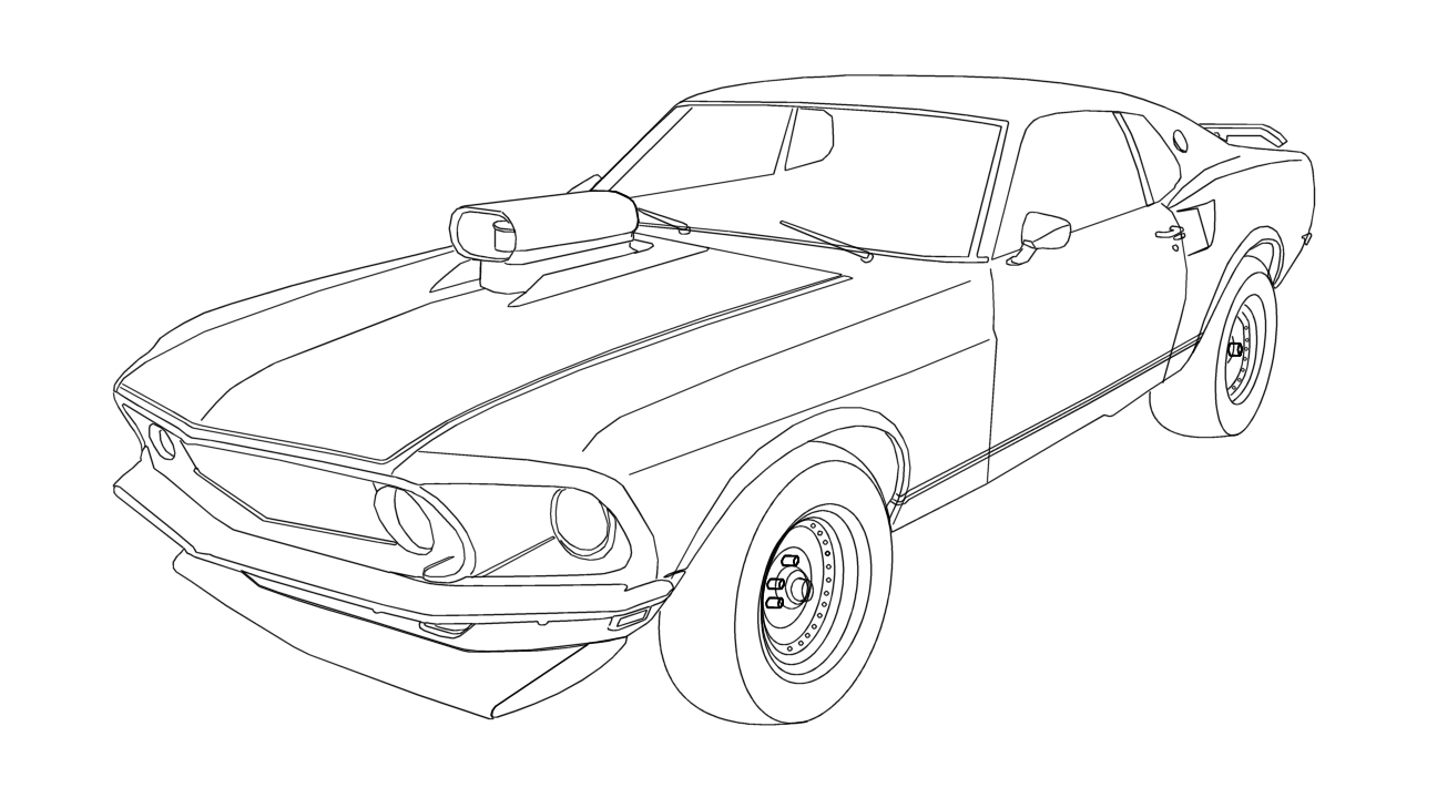 1296x720 mustang coloring pages
