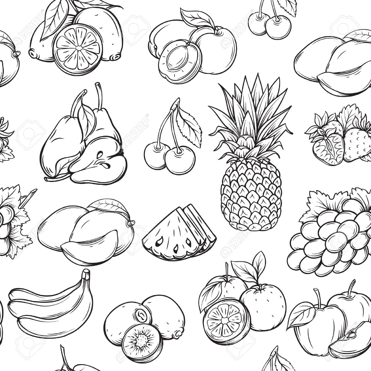 Fruits Drawing At Getdrawings