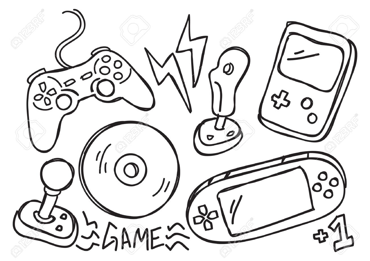 Game Console Drawing At Getdrawings