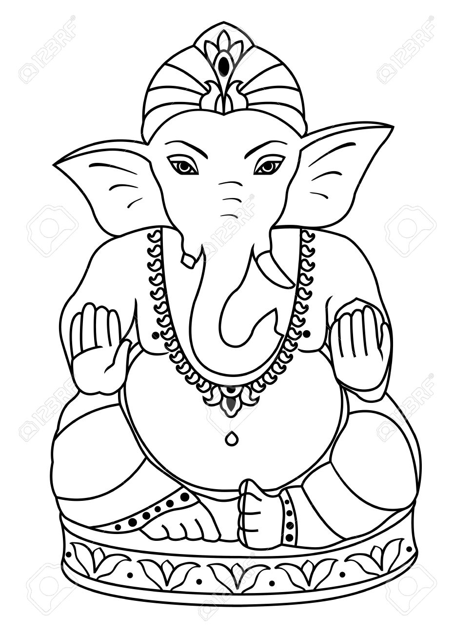 Drawings Of Asian Elephant Color Pages Printable