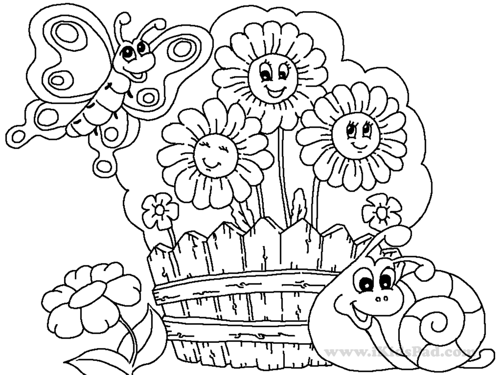 Garden Drawing For Kids At Getdrawings