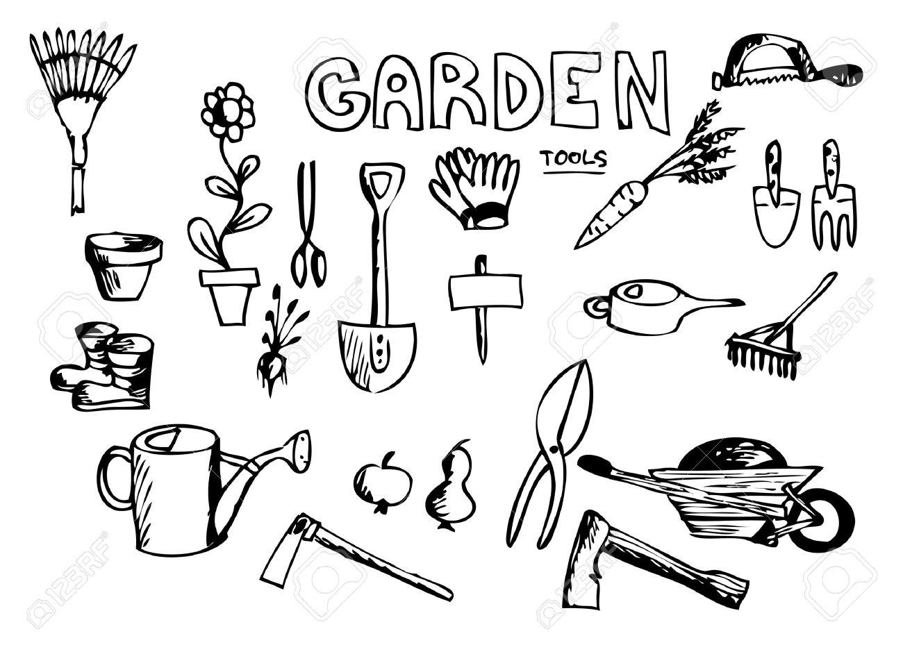 Garden Tools Drawing At Getdrawings