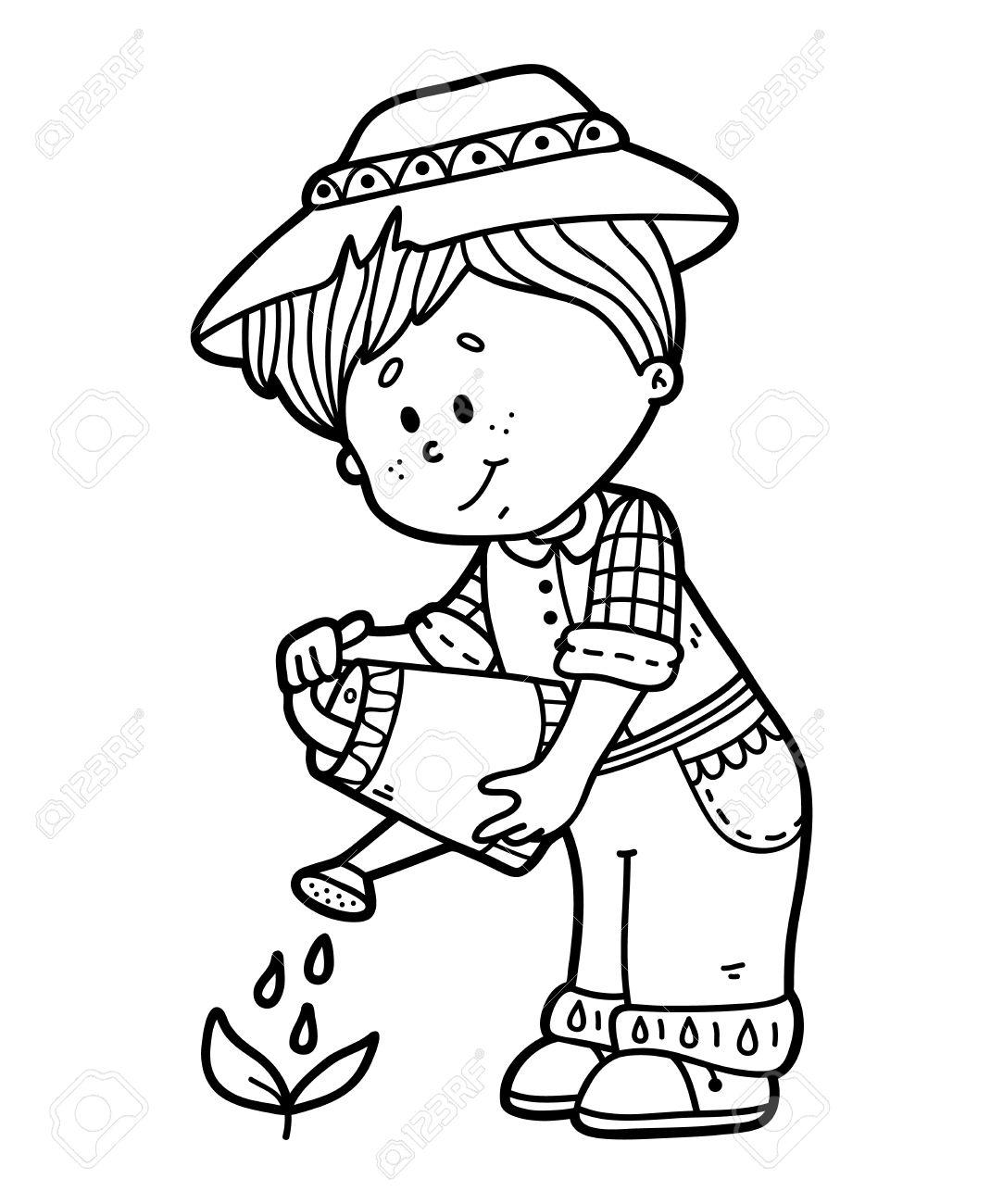 Gardener Drawing At Getdrawings