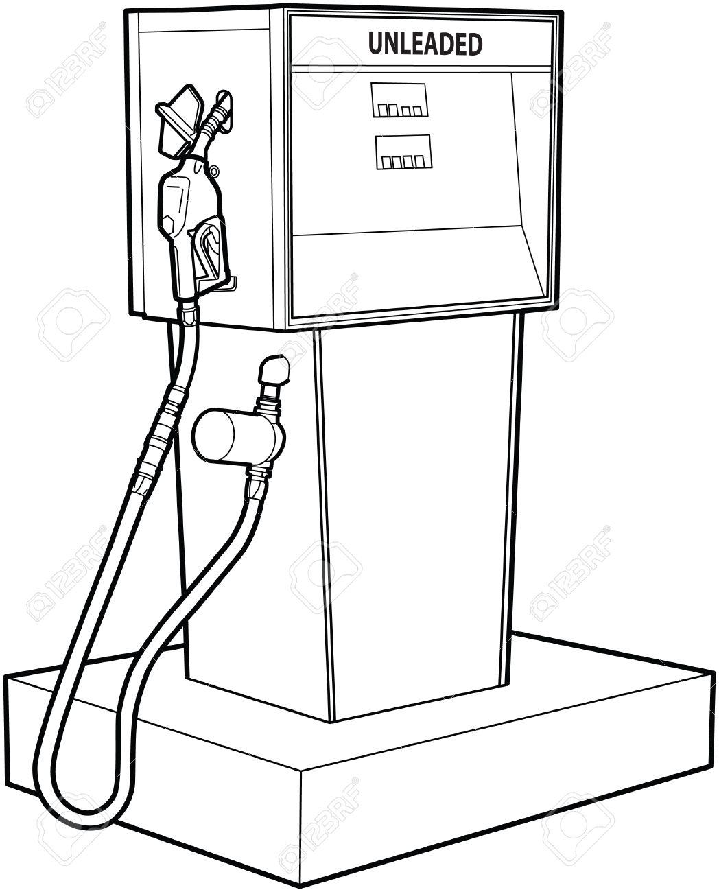 Gas Pump Drawing At Getdrawings