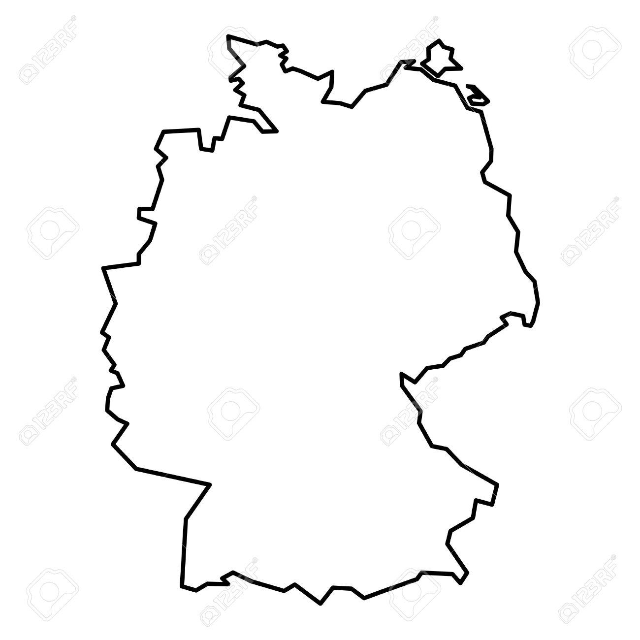 Germany Map Drawing At Getdrawings