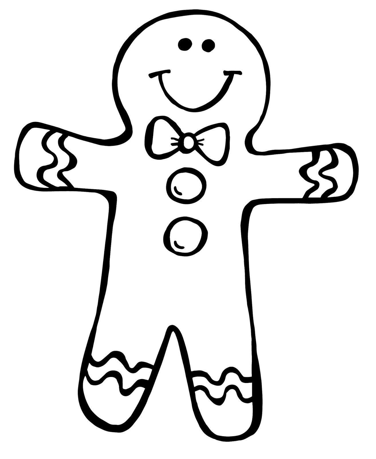 Gingerbread Man Drawing At Getdrawings