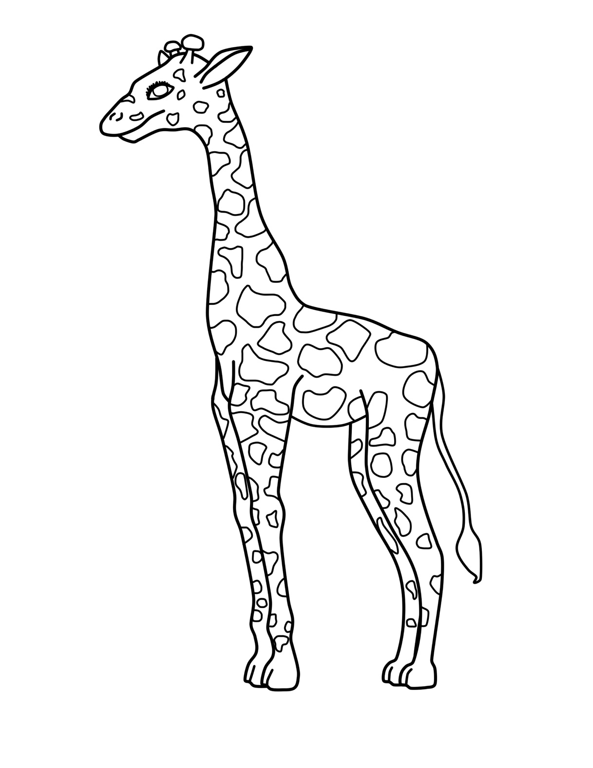Giraffe Drawing Easy At Getdrawings