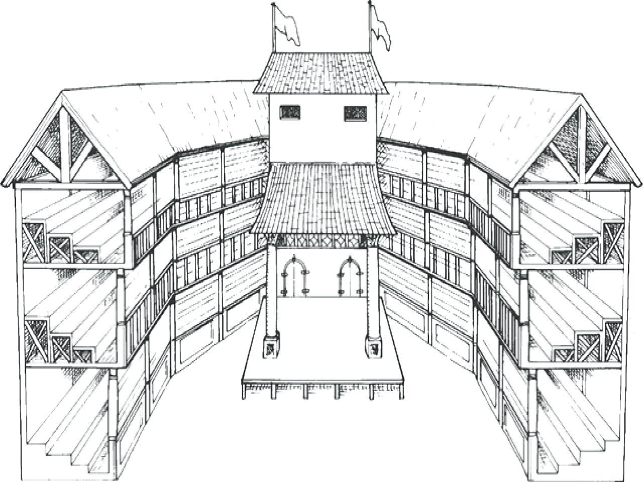 Globe Theater Drawing At Getdrawings