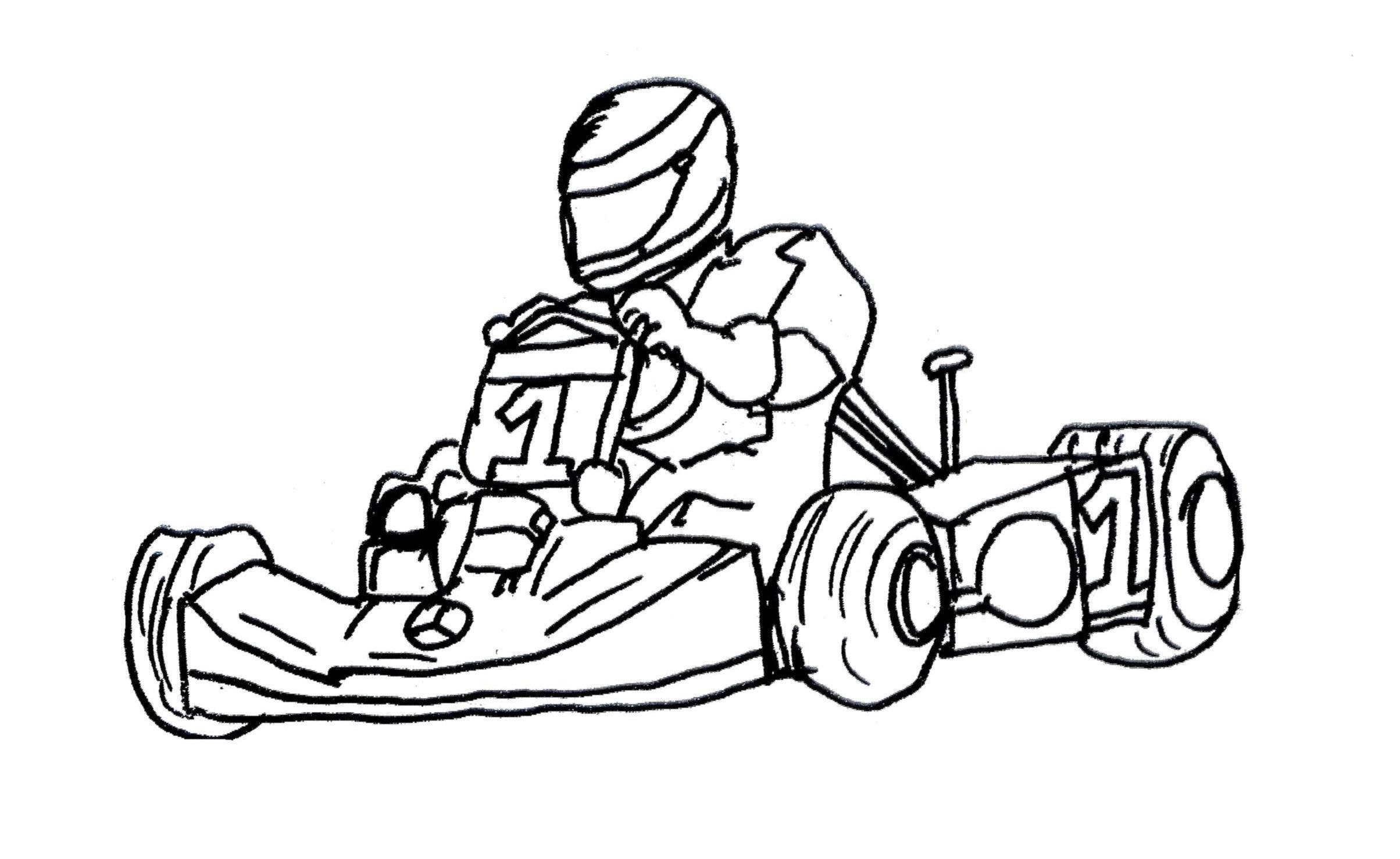 Go Kart Drawing At Getdrawings