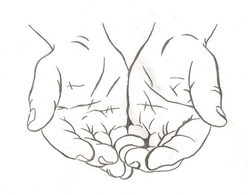 God Hands Drawing At Getdrawings