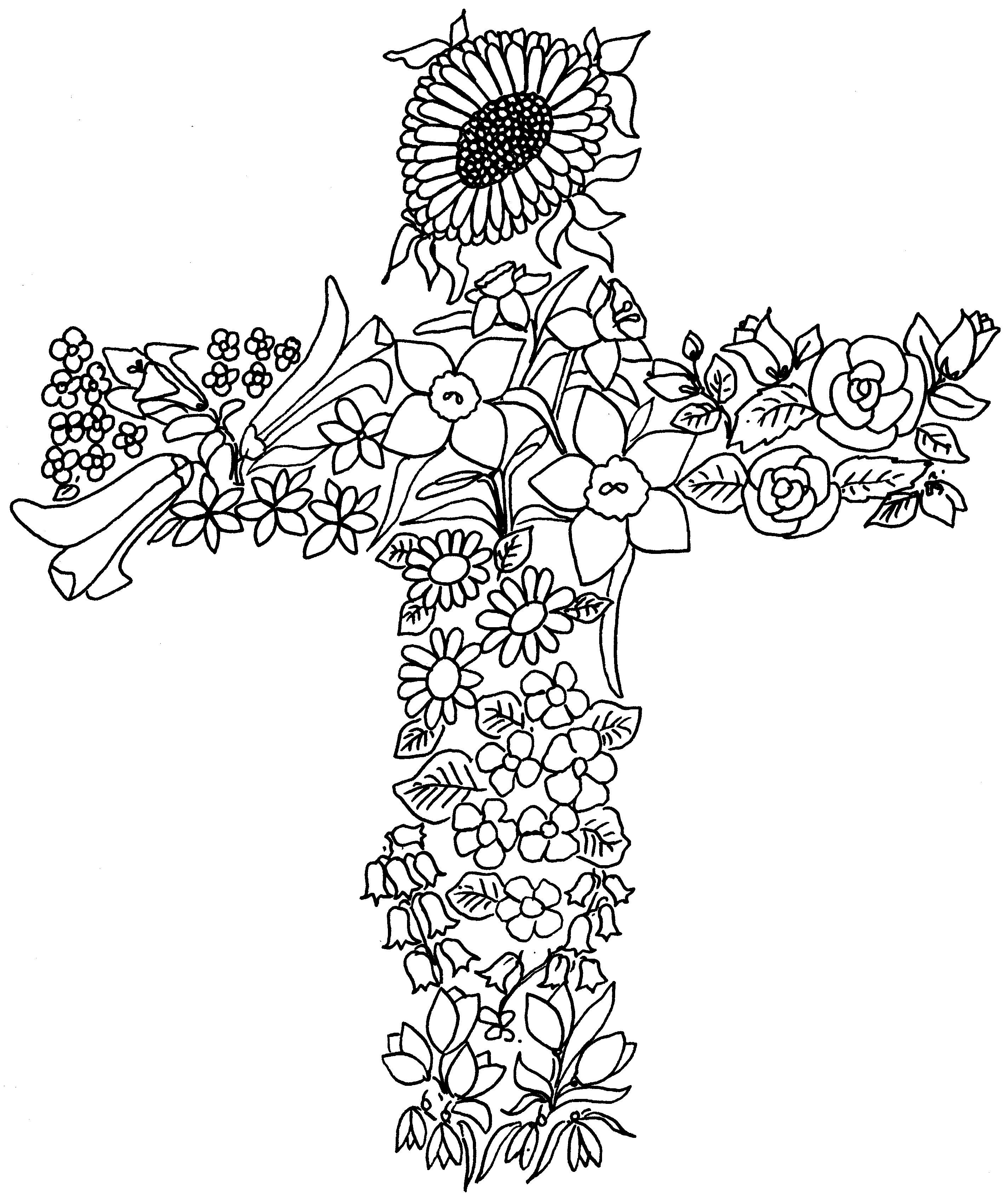 God On Cross Drawing At Getdrawings