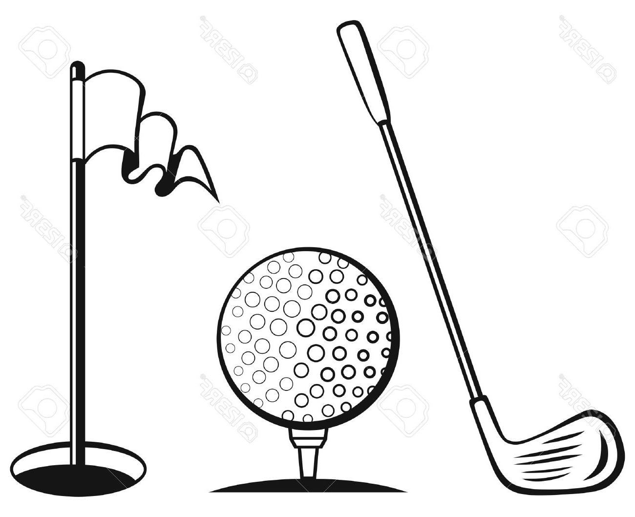 Golf Flag Drawing At Getdrawings