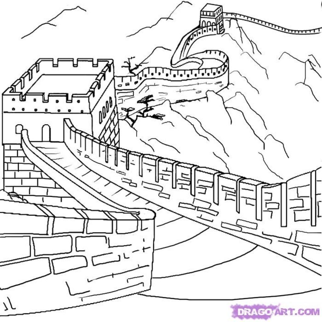 Great Wall Of China Drawing At Getdrawings
