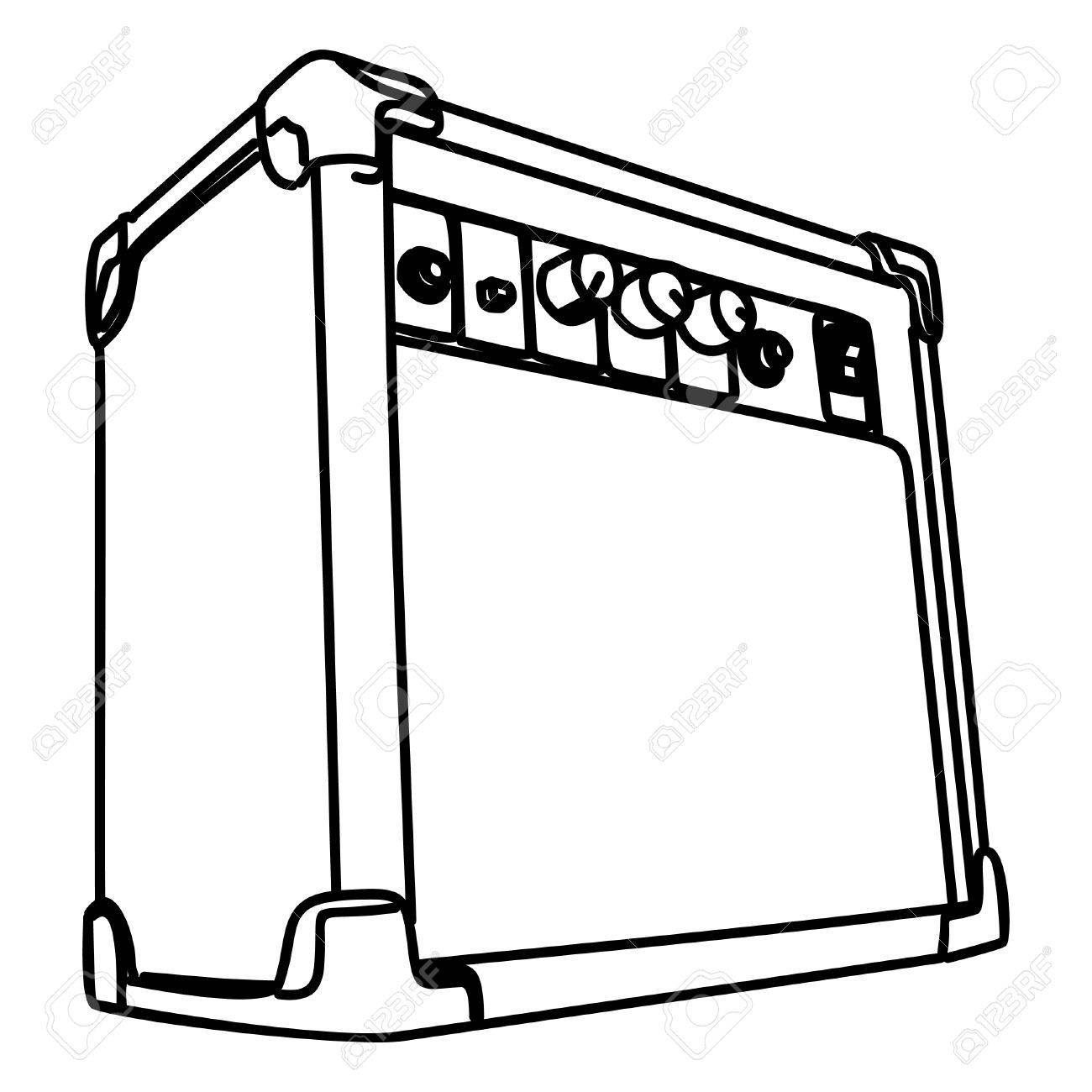 Guitar Amp Drawing At Getdrawings