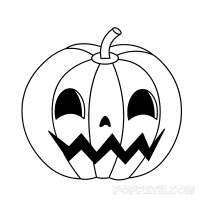 halloween pumkin drawing