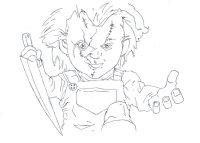 halloween line drawings free