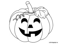 halloween pumpkin outline drawing