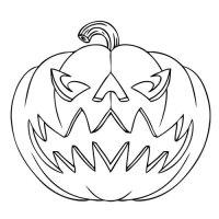 halloween pumpkin drawing