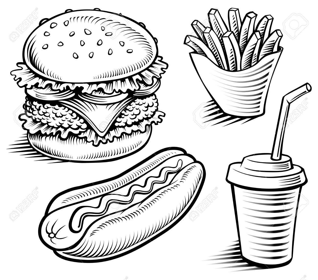 Hamburger Drawing At Getdrawings