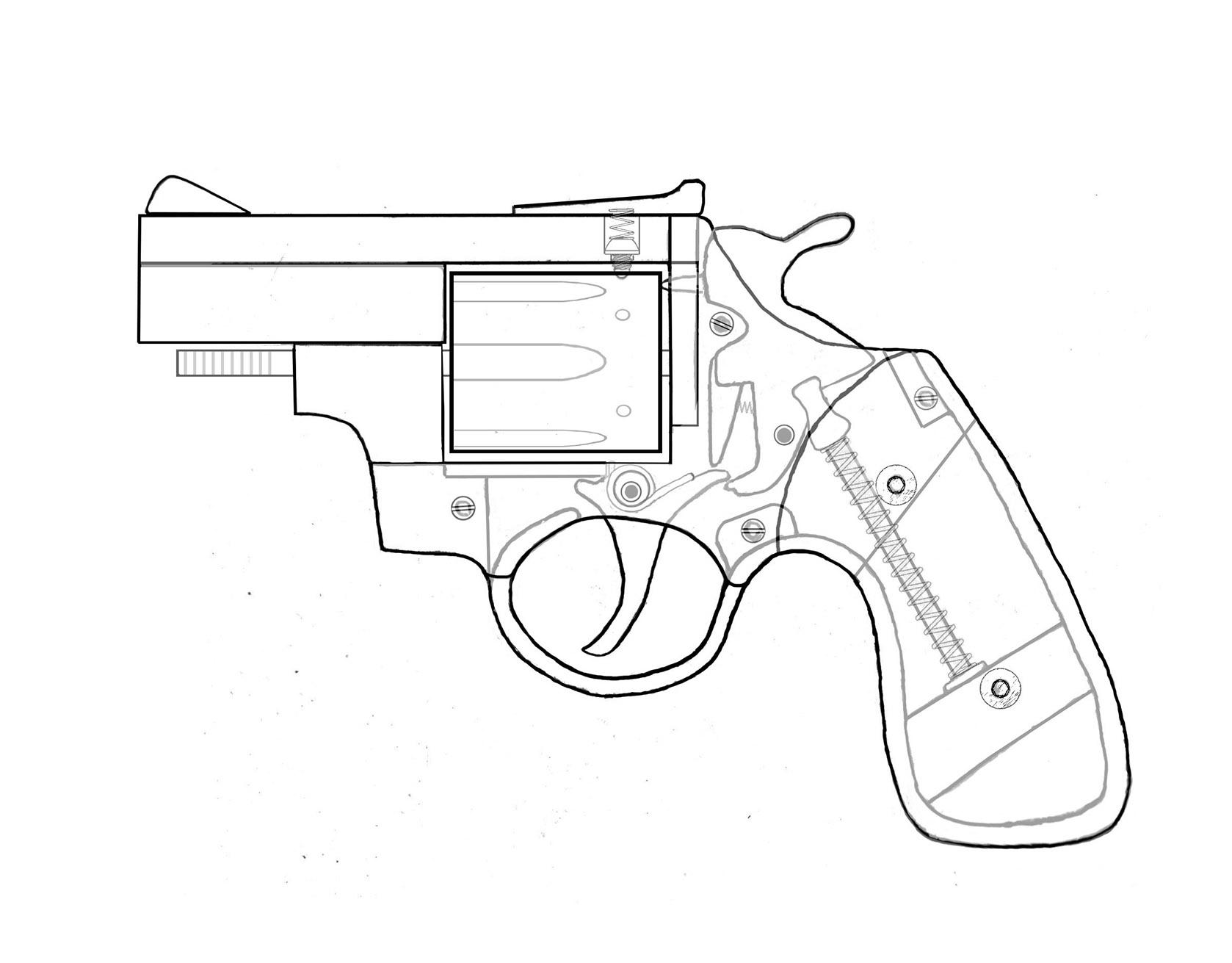 Hand Gun Drawing At Getdrawings