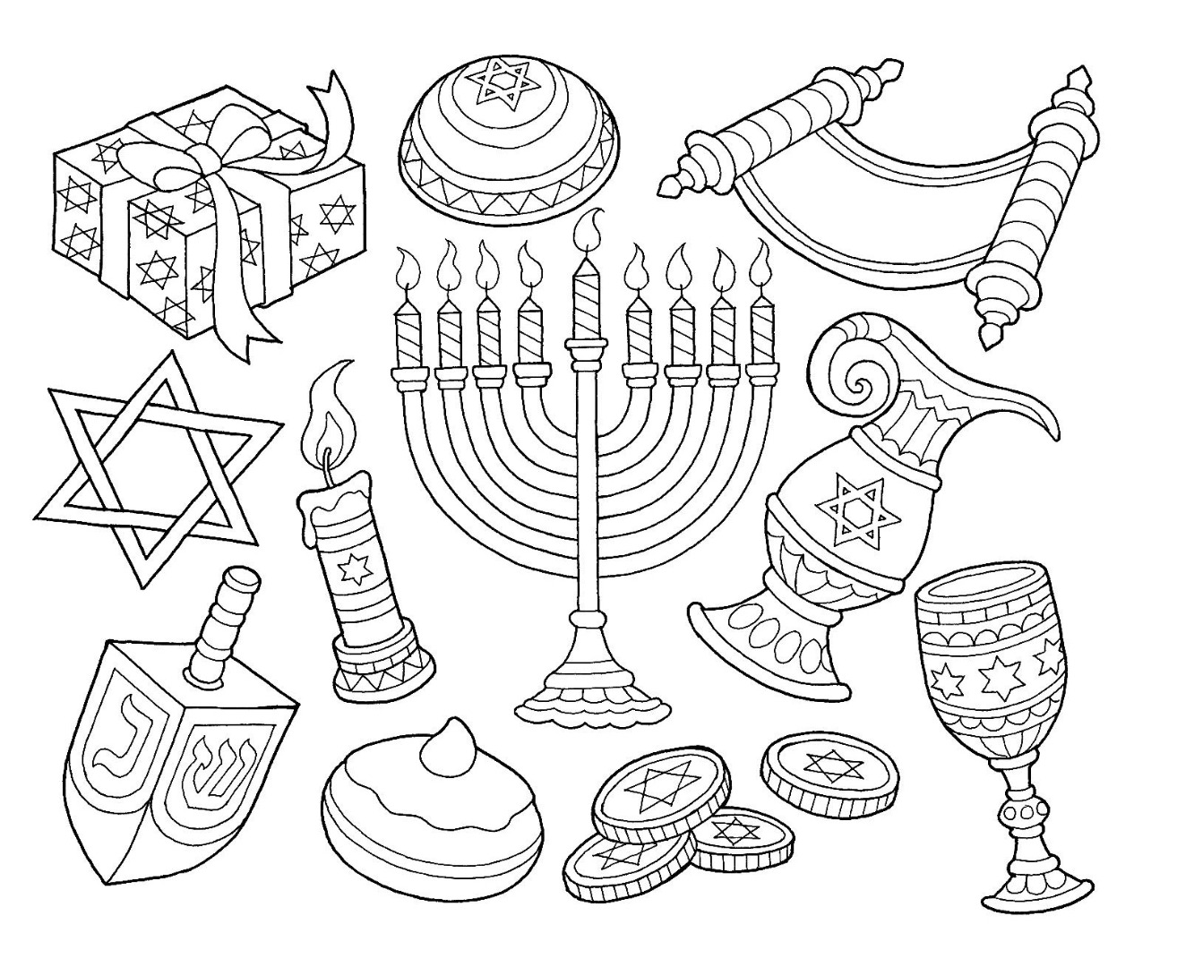 The Best Free Menorah Drawing Images Download From 50