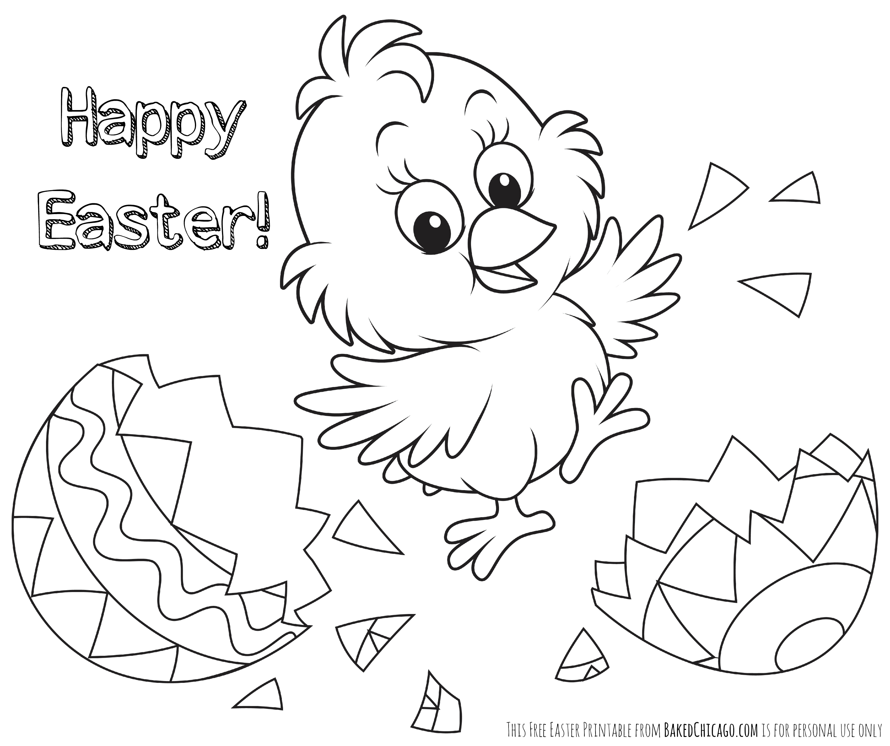 Happy Easter Drawing At Getdrawings