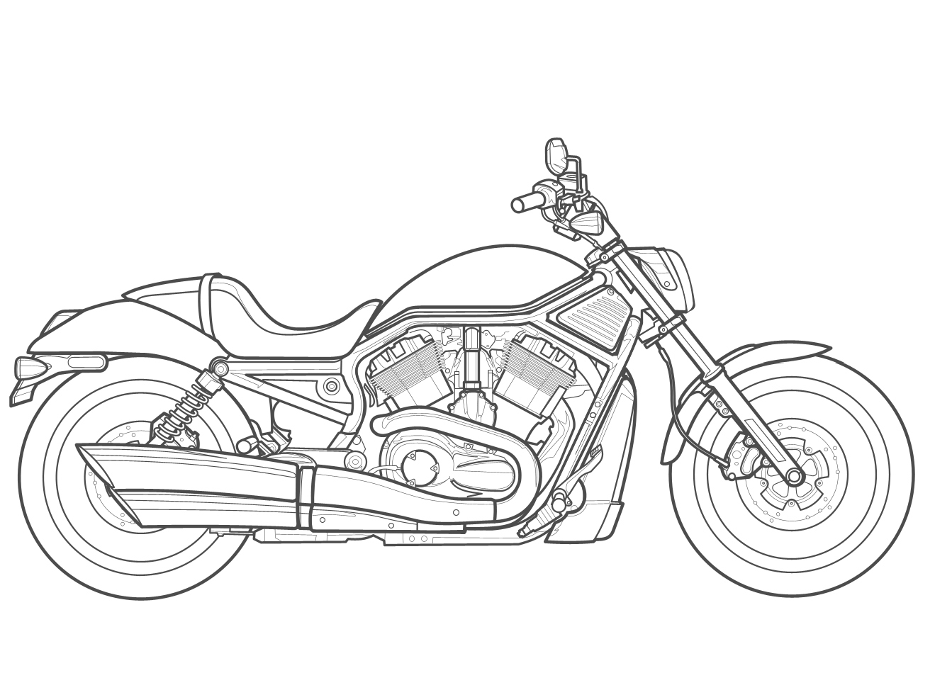 Harley Davidson Logo Drawing At Getdrawings