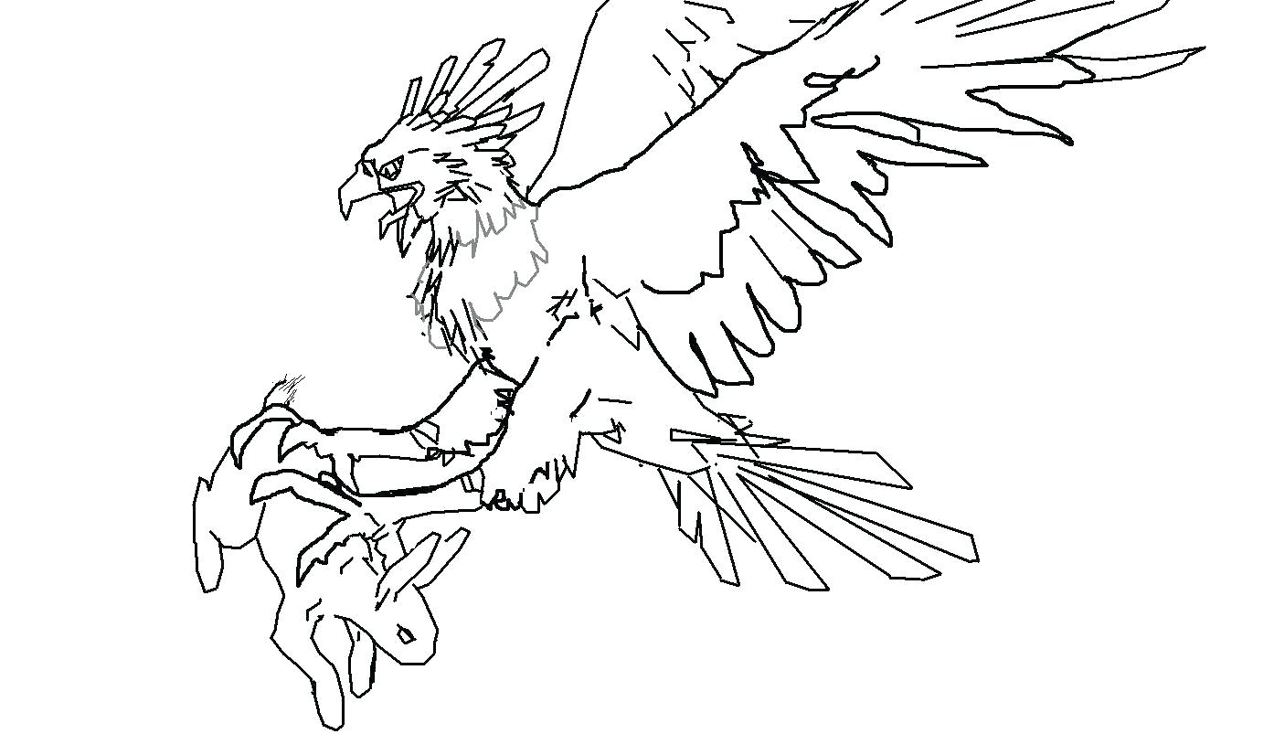 Harpy Eagle Drawing At Getdrawings Free For Personal Use Coloring Pages
