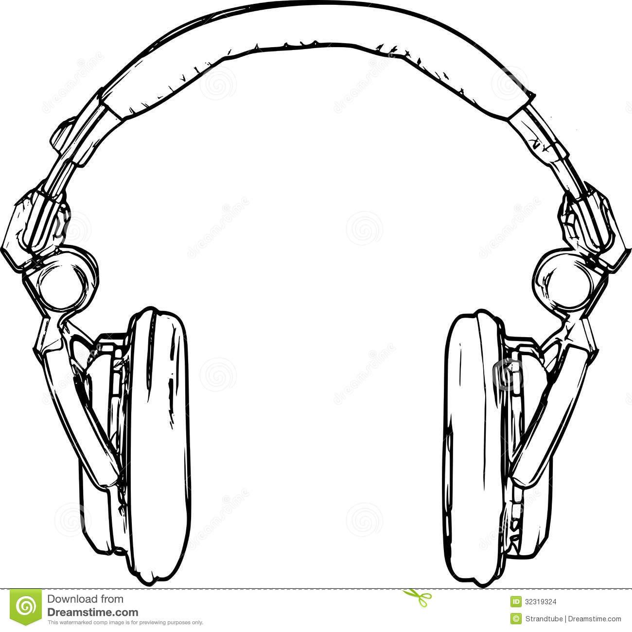 Headphone Drawing At Getdrawings