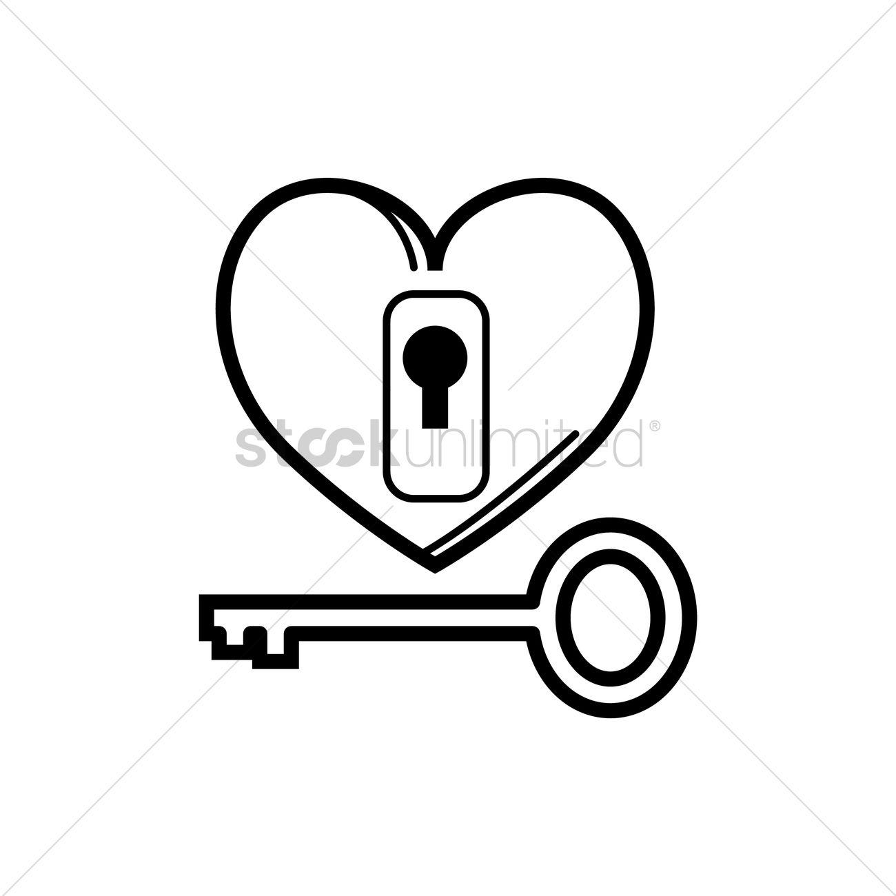 Heart And Key Drawing At Getdrawings