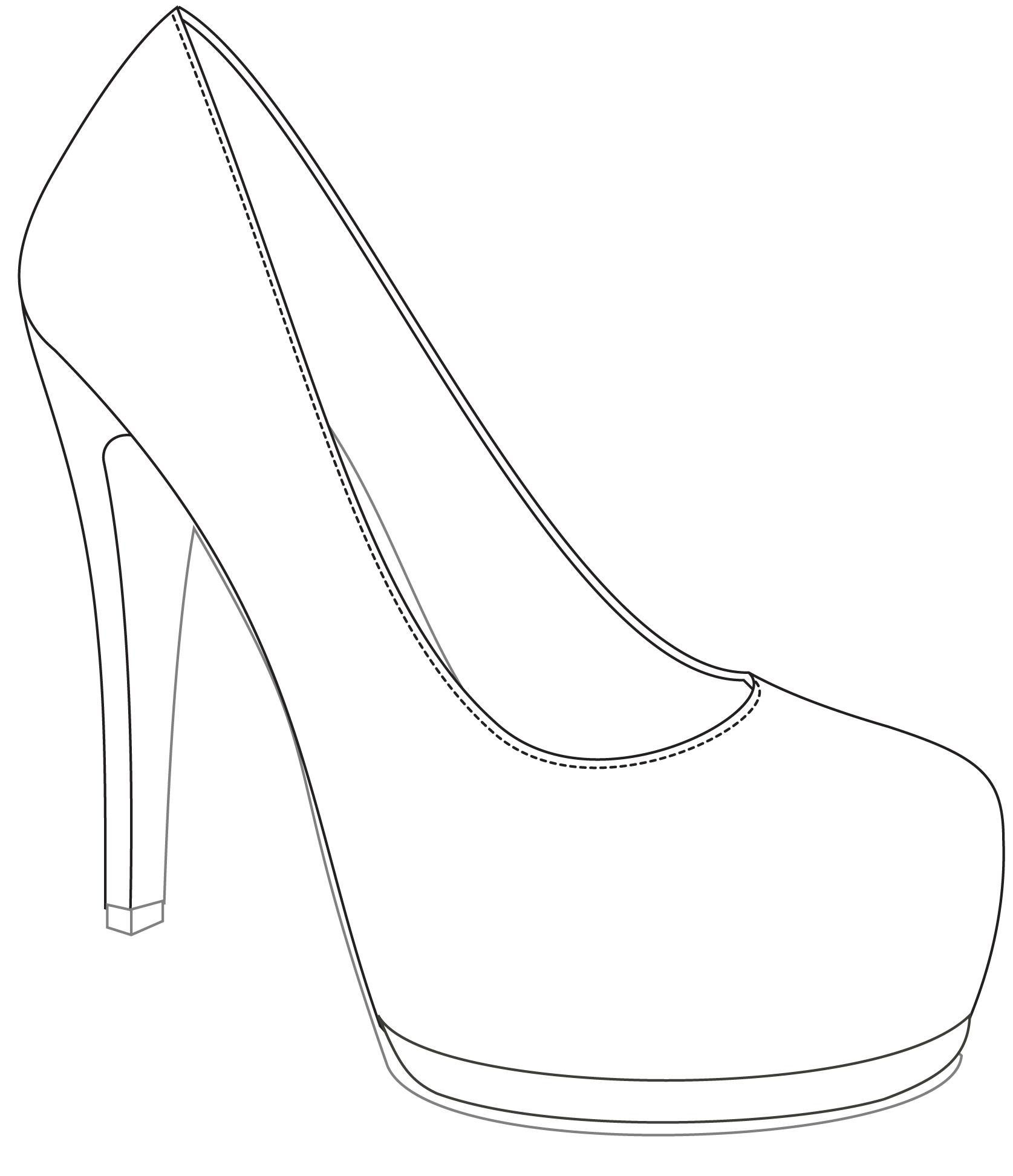 How To Draw High Heels Easy