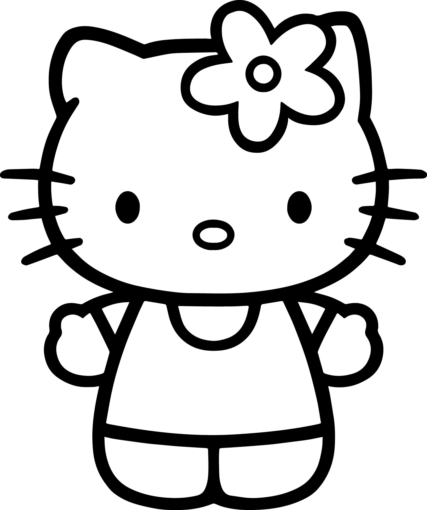 Hello Kitty Drawing Step By Step At Getdrawings
