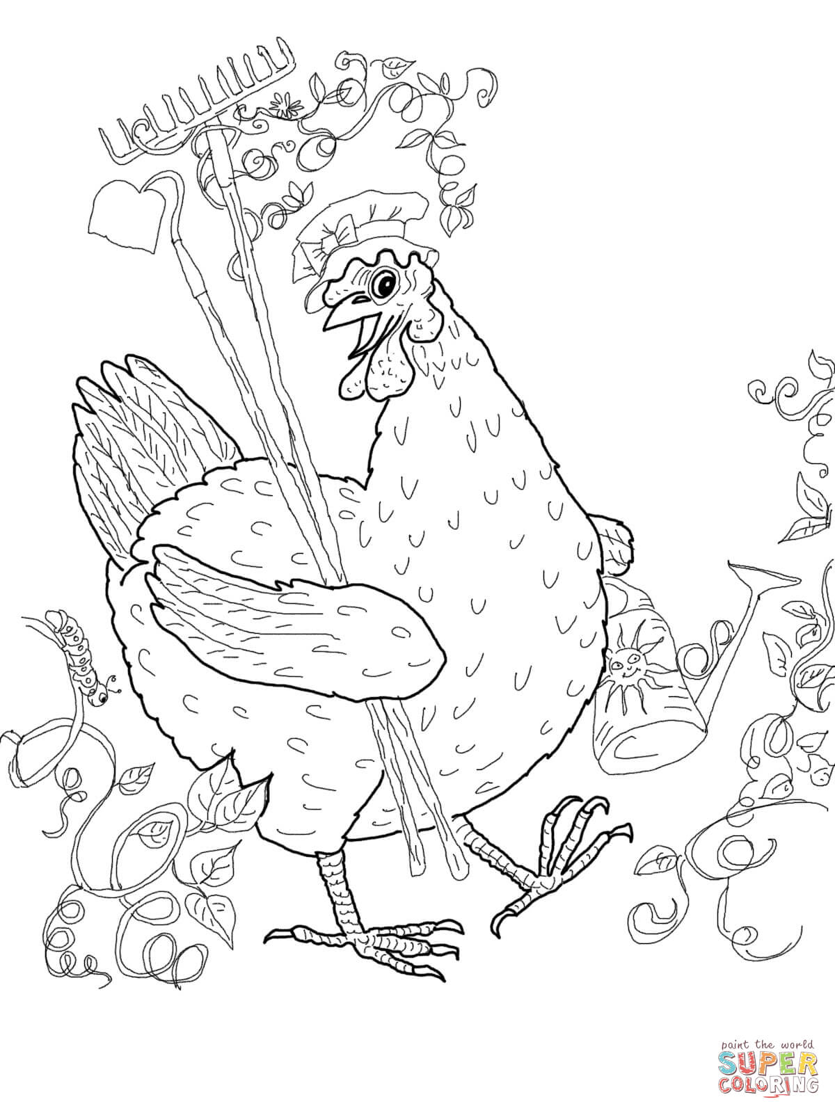 Hen Drawing Images At Getdrawings