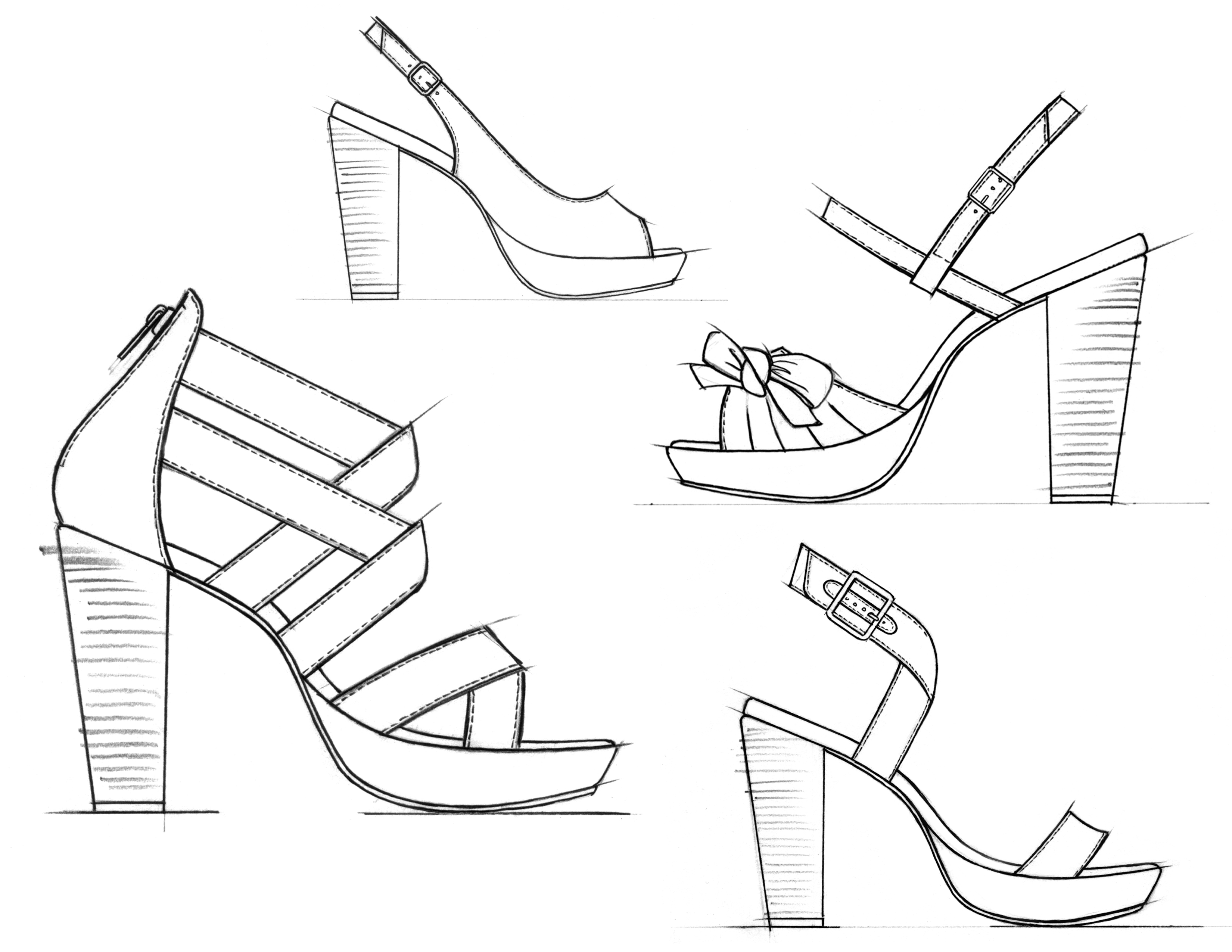 High Heel Drawing At Getdrawings