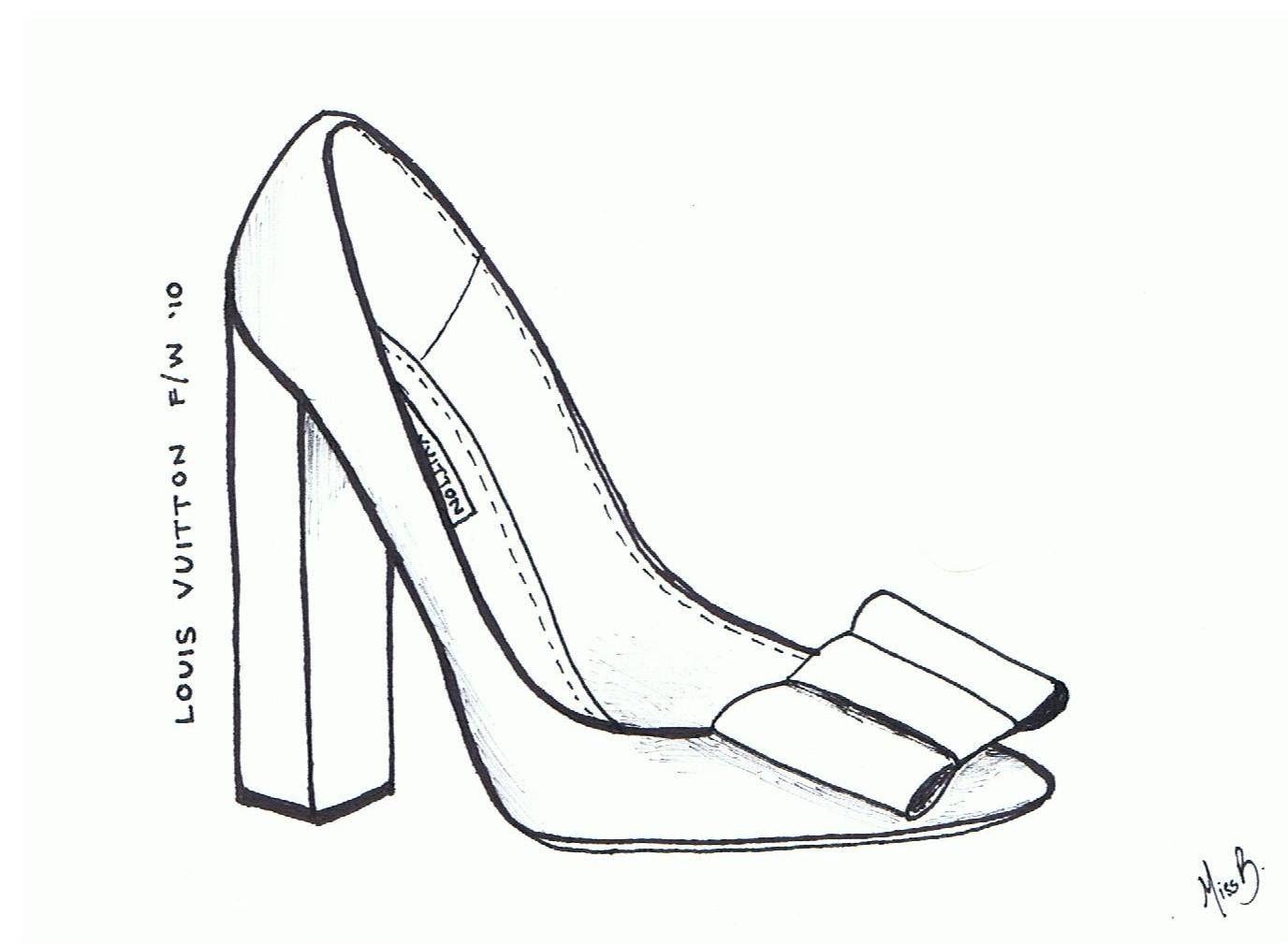 High Heel Shoe Drawing At Getdrawings